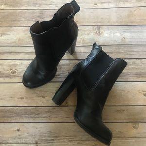 Loft • Black slip on ankle boots
